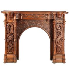 Other Asian Antiques Old Chinese Carved Teak Ornate Dragon Table …beautiful Accent And Display Piece Easy To Use