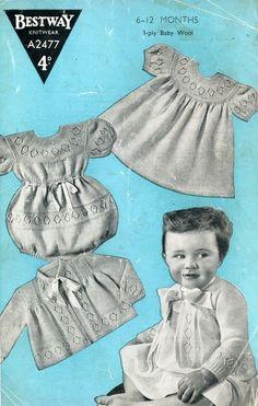 vintage baby lace knit pattern dress, onsie, cardigan, sweater, jacket