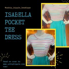 """Take a double 👀 look!! Is it a t-shirt tucked into a skirt?? Nope! It's a contrast dress 👗 !! Sooo 🥰adorable!! Our Isabella dress has that top fit and bottom flare! Side tie wrap and front pocket!  Giving you that """"hot for teacher"""" vibe! 😉 So innocent ☺️ yet, devilishly sexy! 😈💋 Comes S-XL! Tap the photo for deets! ✨  #boutique #style #stripedress #instagood #dress #fashion #instagram #boutiqueshopping #styleblogger #stripes #boutiquefashion #fashionblogger #dresses #boutiqueclothing… Boutique Clothing, Fashion Boutique, Shirt Tucked In, Tee Dress, Striped Dress, Dress Fashion, Flare, Contrast, Stripes"""