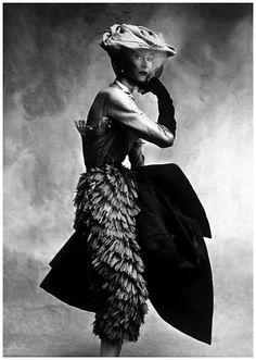 Balenciaga petal dress, photo by Irving Penn