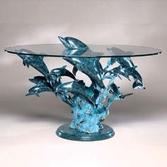 Wyland dolphin table