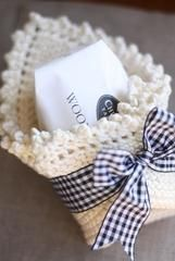 Gift a sweet hand crocheted washcloth and fragrant soap ♥