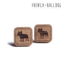 Gemelli per amanti dei cani con Bulldog Francese in di DARQDESIGN