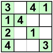 Number Logic Puzzles: 20833 - Bricks size 4