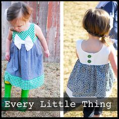 **PDF Pattern sent via email not actual dress** A simple summer dress or tunic is a staple. The Every Little Thing Dress/Tunic is free flowing with...