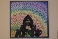 Купить Парящий лотос - комбинированный, Батик, картина в подарок, картина, тени, лотос, картина батик