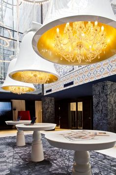 Andaz Amsterdam Prinsengracht Hotel by Marcel Wanders - design to incorporate elements of the city's heritage alongside imagery from historic books.