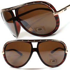 Hot DG Wrap Designer Oversized Gradient Aviator Mens Womens Sunglasses B90C   DGEyewear  Aviator 95b607f054