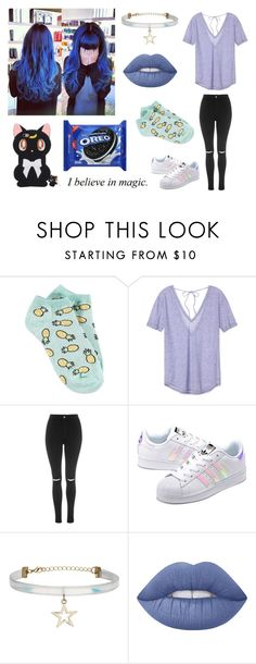 """""""Frost; Casual Outfit"""" by nightstalker ❤ liked on Polyvore featuring Forever 21, Victoria's Secret, Topshop, adidas Originals, My Little Pony and Lime Crime"""