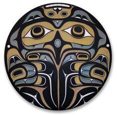 I heard a tawny owl (Strix aluco) in the garden last night, for the first time in months. Haida Kunst, Arte Haida, Haida Art, American Indian Art, Native American Art, American Symbols, Tatouage Haida, Brainstorm, Haida Tattoo
