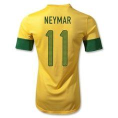 55d6c52fb Brazil 2012/13 Home Jersey Soccer Shirt Soccer Jersey Brazil Home NEYMAR  #11 Nike