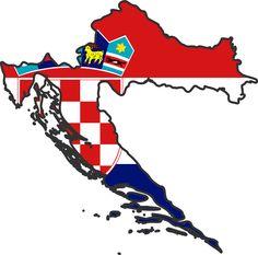 Croatian flag map