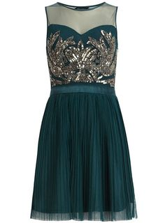 Teal embellished  dress