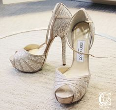 Blush Wedding Shoes, Bridal Shoes, Fab Shoes, Crazy Shoes, Jimmy Choo Shoes, Heeled Boots, High Heels, Footwear, My Style