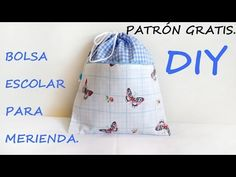 YouTube Fabric Handbags, Simple Bags, One Design, Couture, Fabric Painting, Drawstring Backpack, Coin Purse, Patches, Pouch
