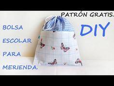 Bolsa escolar para la merienda: DIY - Patronesmujer: Blog de costura, patrones y telas.