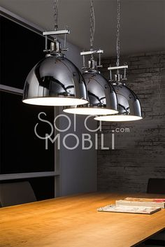 industrial chromed steel pendant light - Decoration For Home Luminaire Ikea, Deco Luminaire, Kitchen Ceiling Lights, Kitchen Lighting, Industrial Kitchen Design, Industrial Style, Roof Light, Interior Design Living Room, Chrome