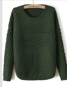 This autumn green jumper looks so warm and cosy