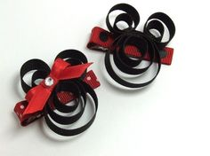 Mickey And Minnie Sculpture Hair Clip by SAuvigne23 on Etsy, $5.20