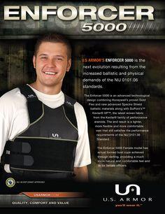 U.S. Armor | Enforcer 5000 | Custom Fit Body Armor | You'll Wear It! | www.usarmor.com