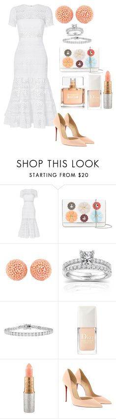 """""Sunday Morning Service""👑"" by aleecialynnstyles ❤ liked on Polyvore featuring self-portrait, Fendi, Valentin Magro, Annello, Kenneth Jay Lane, Christian Dior, MAC Cosmetics, Christian Louboutin and Givenchy"
