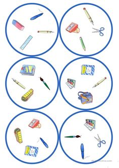 Gry w języku niemieckim lekcji: Dobble - szkolne cards / 4 symbole) English Activities, Language Activities, Kindergarten Activities, Activities For Kids, Teaching English, Learn English, Circle Game, Esl Resources, Classroom Games