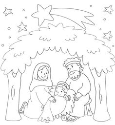 Childrens Christmas, Christmas Crafts For Kids, A Christmas Story, Christmas Colors, Christmas Art, Christmas Decorations, Jesus Coloring Pages, Preschool Coloring Pages, Free Printable Coloring Pages