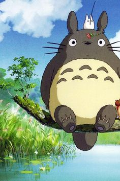 """""""Totoro is soft, bouncy, and extremely LOUD!"""" ;) - My Neighbor Totoro"""