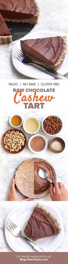 Raw Chocolate Cashew Tart