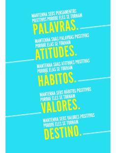 Poster Frase Mantenha seus pensamentos positivos
