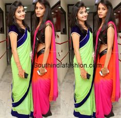 DIY - Plain Sarees with Borders ~ Celebrity Sarees, Designer Sarees, Bridal Sarees, Latest Blouse Designs 2014