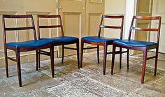 4-Dining-Chairs-Table-Arne-Vodder-Sibast-Denmark-1950s-Mid-century-Hans-Wegner
