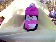 Cute Recycled Crafts | Cute recycled Christmas penguin - OCCASIONS AND HOLIDAYS