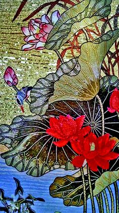 Mosaic Glass Floral Art by Mozaico Art