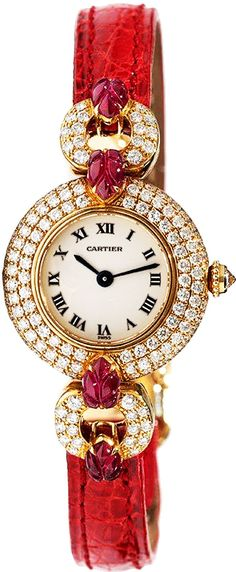 Cartier Tutti Frutti Ruby - Oh yes this is all the bling a girl would ever need - small womens watches, black womens watches, womens unique watches
