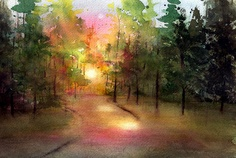 """sundown at the park"" by lin frye. beautiful!"