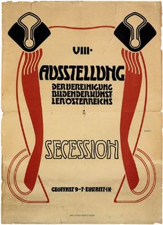 Adolf Michael Boehm Poster Design for the 8th Exhibition Of the Vienna Secession