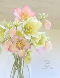 Рождественская роза - цвет жизни глина искусство