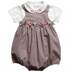Tartine et Chocolat  Baby Girls White Bodysuit & Bubble Sunsuit 2 Piece Set
