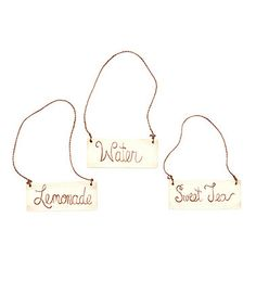 Look at this #zulilyfind! Hand-Painted Rustic Chic Drink Tag Set by Morgann Hill Designs #zulilyfinds
