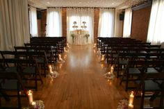 Deity Wedding Ceremony Aisle with Candles & Petals........Brooklyn, NYC #brooklynweddingvenue #brooklynwedding