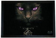Spiral Direct - Cats Eyes Black Cat Door Mat