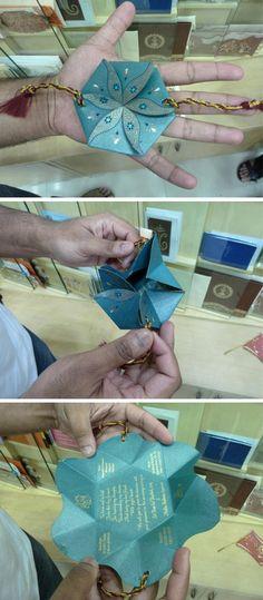 Lovely Indian origami Wedding Invitation. http://www.flickriver.com/photos/childofsai/popular-interesting/