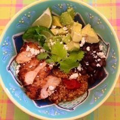 Heather's Helpings: Mexican Quinoa and Grilled Chicken Bowl