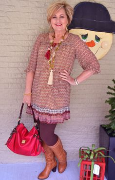 Fashion over 40 for the everyday woman   Tunic dress and leggings @50isnotold.com