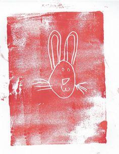 """Bunny Print"" by Matthew (age 6)"