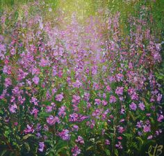 FINEARTSEEN - We love the freshness of this original floral painting by Colette Baumback. Available on FineArtSeen - The Home Of Original Art. Enjoy Free Delivery with every order. << Pin For Later >> Impressionist Landscape, Landscape Paintings, Love Painting, Acrylic Painting Canvas, Woodland Flowers, Botanical Art, Paintings For Sale, Love Art, Fine Art Photography