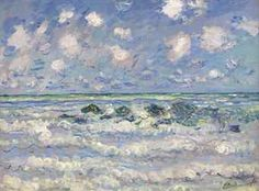 Claude Monet  La Vague at auction at Christie's Nov. 16 2016 expecting   1.5 to 205 Million Dollars!  Size not mentioned.