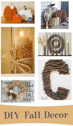 DIY Fall Decor -I'm actually loving the stick letter idea! Add some fall leaves to it for color Autumn Crafts, Holiday Crafts, Holiday Fun, Holiday Decor, Xmas Deco, Fall Projects, Thanksgiving Decorations, Fall Decorations, Fall Harvest