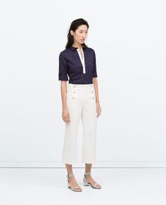 COMBINED DETAIL STRETCH POPLIN SHIRT-View all-Tops-WOMAN | ZARA United States